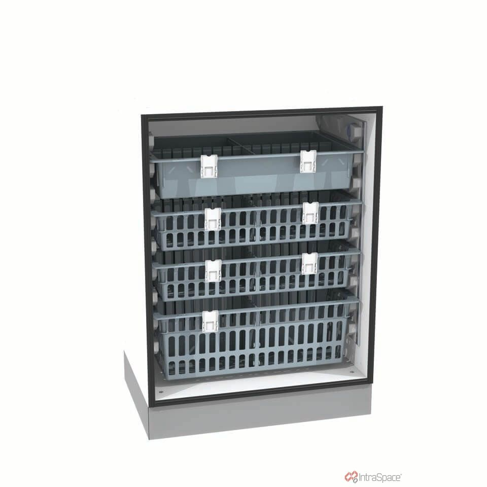 Versorgung Schrank / für Verbrauchsmaterial / mit Korb / ohne Tür ...