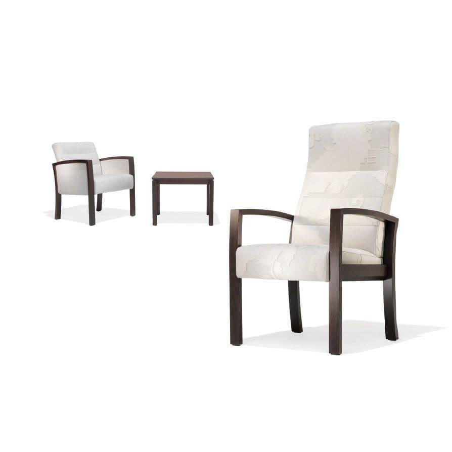 Stuhl für Wartezimmer / mit hoher Rückenlehne / mit Armlehnen - 5050 ...