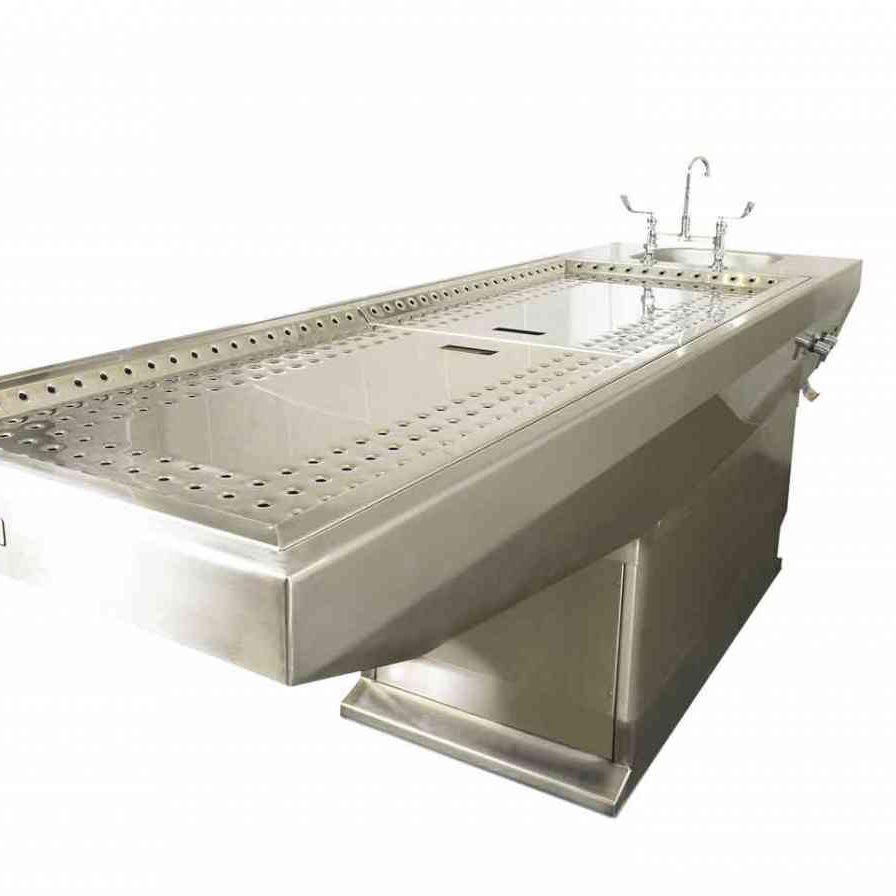 Tisch für Autopsie / rechteckig / Edelstahl / Waschbecken - Kenyon