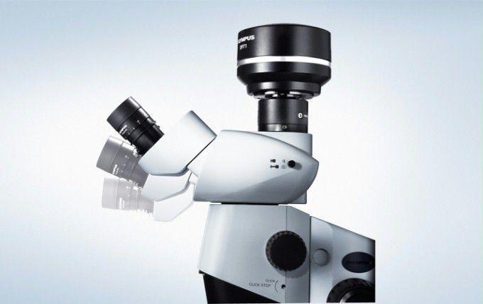 Laborstereomikroskop digital trinokulares dunkelfeld szx10