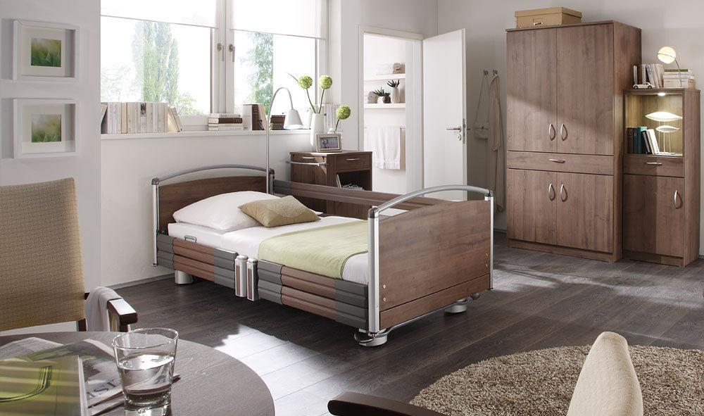 Bett Für Häusliche Krankenpflege / Elektrisch / Mit Trendelenburg Lagerung  / Höhenverstellbar   Practico Alu Plus