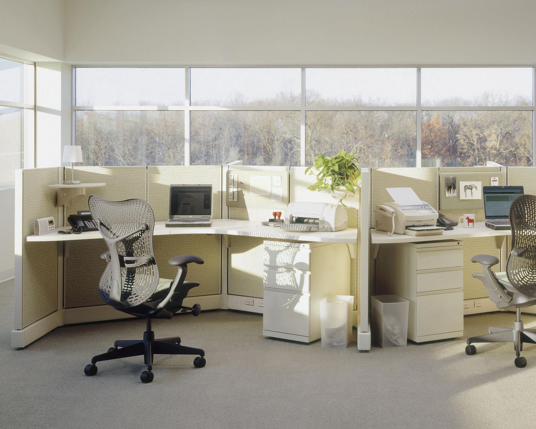 schreibtisch fr open space action office system - Herman Miller Schreibtischsthle