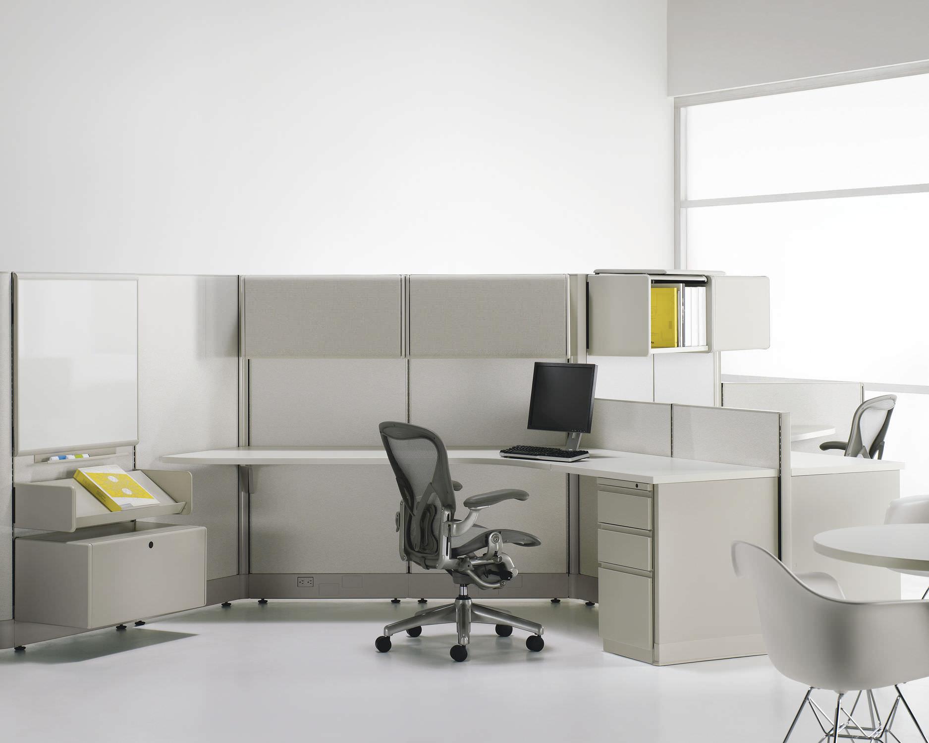 schreibtisch fr open space action office system herman miller - Herman Miller Schreibtischsthle