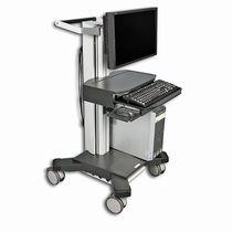Höhenverstellbarer Computerwagen / mit Schublade