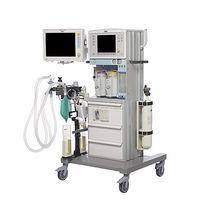 Anästhesiearbeitsplatz auf Wagen / Atmungsmonitoring / mit elektronischem Gasmischer