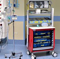 Stauraum-Schrank / Krankenhaus / Rolladen / auf Rollen