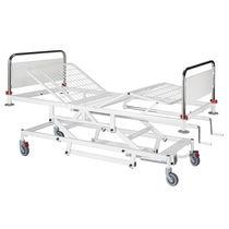 Hydraulisches Bett / höhenverstellbar / Pflege / auf Rollen