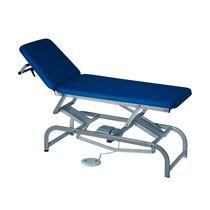 Elektrische Untersuchungsliege / höhenverstellbar / verstellbare Rückenlehne / zweiteilig