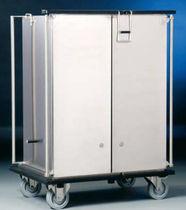 Transportwagen / für Wäsche / mit Tür / Edelstahl