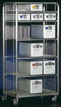 Transportwagen / für Sterilisationscontainer / mit Regal / offene Bauweise