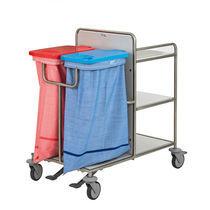 Transportwagen / für Schmutzwäsche / für Frischwäsche / mit Regal