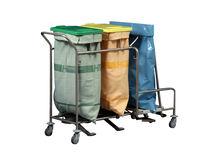 Stauraumwagen / für Wäsche / mit Abfalleimer / 2 Säcke