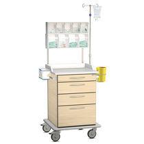 Pflegewagen / mit Rahmen / mit Infusionsständer / mit Schublade