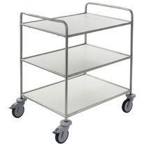 Servicewagen / für Wäsche / mit Regal / 3 Ebenen