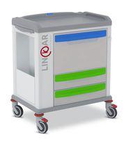 Wagen für Reinigungsmaterial / für Krankenakten / mit Schublade / horizontaler Zugang