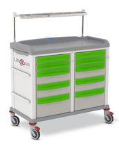 Anästhesiewagen / für Reinigungsmaterial / mit Schublade