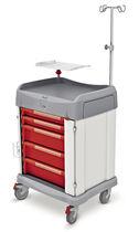 Notfallwagen / für Wäsche / mit Infusionsständer / mit Träger für Defibrillator