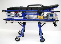 Fahrtrage für Krankenwagen / pneumatisch / höhenverstellbar / mit abnehmbarer Auflage