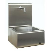 Waschbecken für OP / 1 Station / Edelstahl / mit Infrarot-Wasserhahn