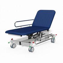 Hydraulische Untersuchungsliege / höhenverstellbar / auf Rollen / verstellbare Rückenlehne