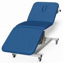 Elektrische Untersuchungsliege / auf Rollen / verstellbare Rückenlehne / dreiteilig