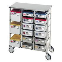 Transportwagen / für Sterilisierungsabteilung / Instrumenten / Kassetten
