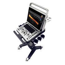 Ultraschallgerät / tragbar, mit Transportwagen / für Kardiologie / zur Ultraschall Untersuchung von Muskeln und Skelett / Schwarz-Weiss