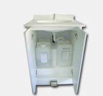 Abstellschrank / für Arztpraxis / Waschbecken / auf Rollen