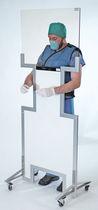 Röntgenstrahlen-Strahlenschutzwand / tragbar / mit Öffnung für Handschuhe / Fenster