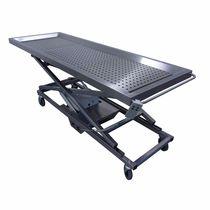 Leichenwaschungs-Tisch / rechteckig / auf Rollen / höhenverstellbar