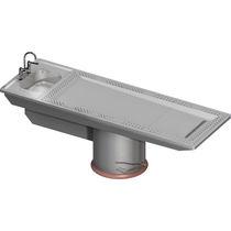 Tisch für Autopsie / rechteckig / Waschbecken / Luftabsaugung nach unten