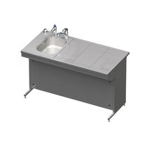 Tisch zum Sezieren / rechteckig / Waschbecken / Luftabsaugung nach unten