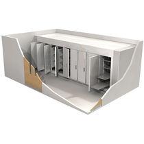 Leichenkühlzelle für Leichentragen / mehrere Körper / Frontlader / modular