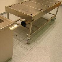 Tisch für Autopsie / Mobiler / andockbar / Waschbecken