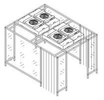 Kabine für Reinraum / für die Dekontamination / begehbar