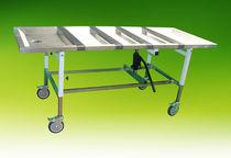 Einbalsamierungstisch auf Rollen / höhenverstellbar / hydraulisch