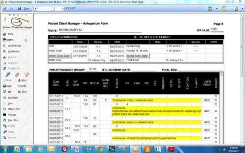 Software-Modul für Geburtshilfe Untersuchung / für Management / Diagnose / Content-Sharing OB/GYN Prime Clinical Systems, Inc.