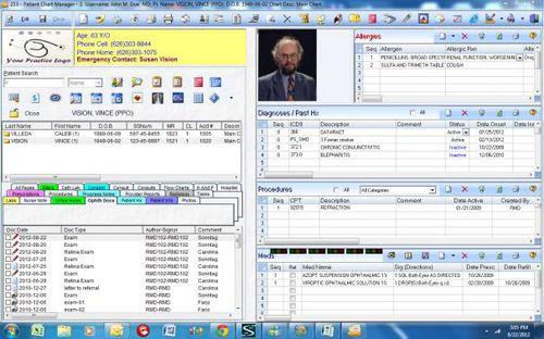 Software-Modul / für Ophthalmologie / für Management / Diagnose / Content-Sharing Prime Clinical Systems, Inc.