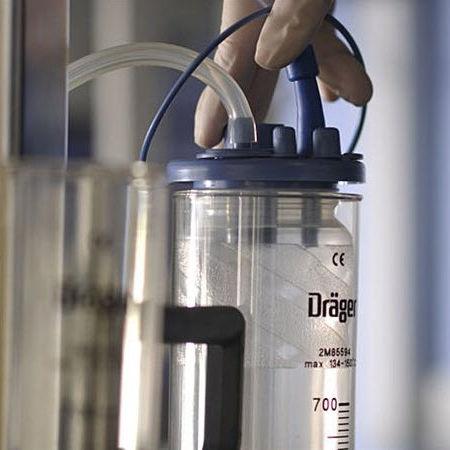 pneumatische chirurgische Absaugpumpe / Drainage / tragbar