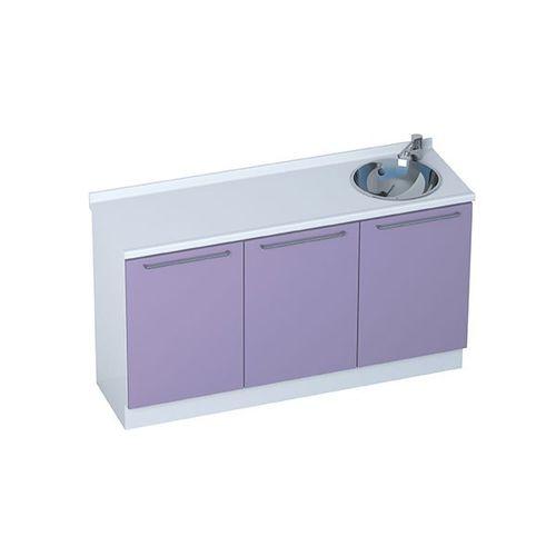 Schrank für Arztpraxis / Waschbecken / modular / 3-Modul