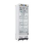 Kühlschrank für Apotheken / vertikal / 1 Tür / Glastür