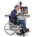 Elektrischer Ophthalmischer Instrumententisch / höhenverstellbar / auf Rollen HSM 600 Haag-Streit Diagnostics