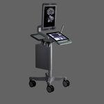 Ultraschallgerät auf Plattform, kompakt / für urologische Diagnostik / Schwarz-Weiss / Touchscreen