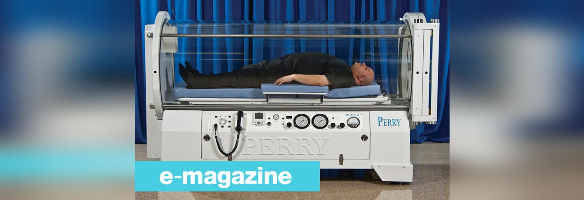 Eine Überdruckkammer für Patienten bis 320 Kilogramm