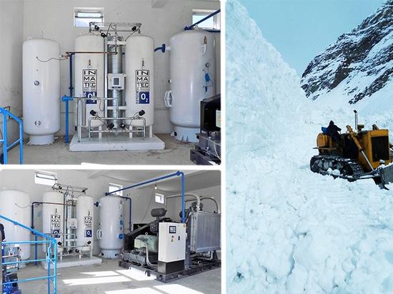 Sauerstoffversorgungen in den Krankenhäusern oder in Kliniken, die in den unzugänglichen Bereichen gelegen sind, ist eine Herausforderung.