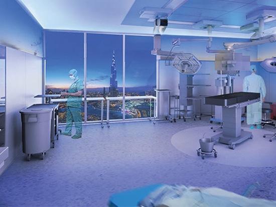 Operationsraum-Prototyp/Architektur u. Patientenversorgung