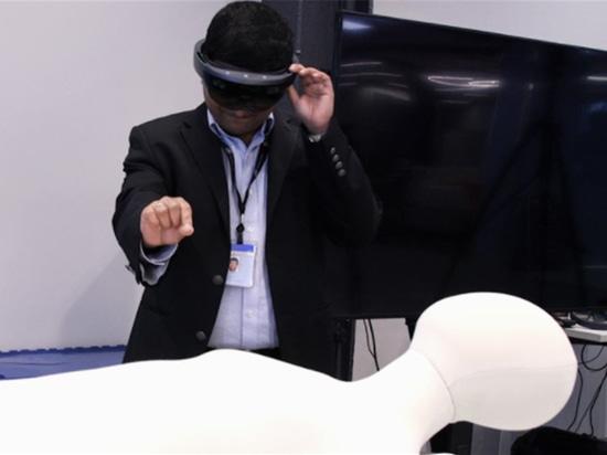 GEs vergrößerte Wirklichkeits-Technologie für Ultraschall-Training