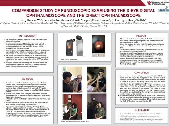 Vergleichsstudie der Fundoskopie mit dem digitalen Ophthalmoskop D-EYE und dem direkten Ophthalmoskop