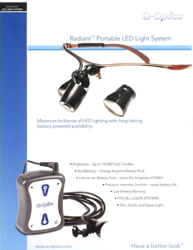 Q-Optics Radiant? Portable LED Light System