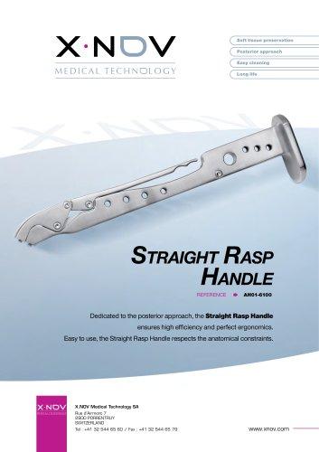 Straight rasp handle